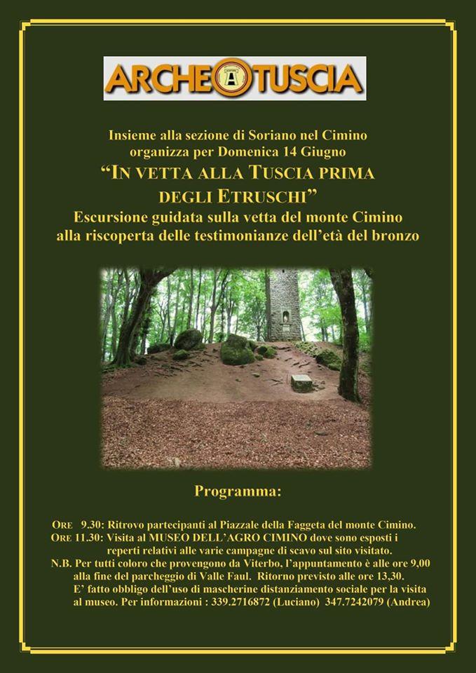 14 Giugno – Archeotuscia Onlues, visita all'insediamento del Bronzo Finale