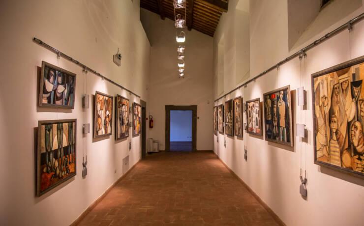 Artisti nella Pinacoteca di Palazzo Chigi Albani