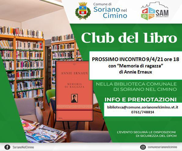 """Club del libro – """"Memoria di ragazza"""""""